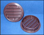 round brown plastic vent